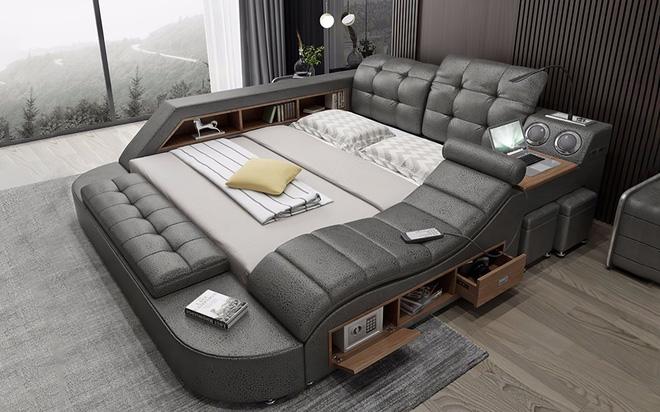Chiếc giường trong mơ cho các thánh lười, gắn kèm cả ghế massage và hệ thống loa cực xịn sò, giá chỉ từ 65 triệu đồng - Ảnh 1.