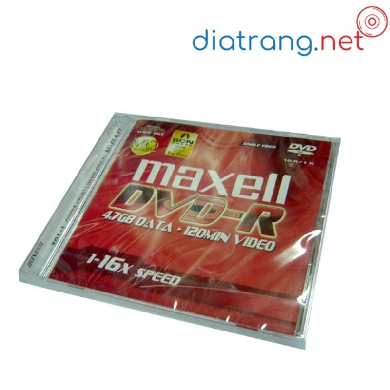 đĩa trắng dvd-r maxell 4.7gb có vỏ bán lẻ
